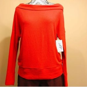Lucky Brand Red Long Sleeve Top